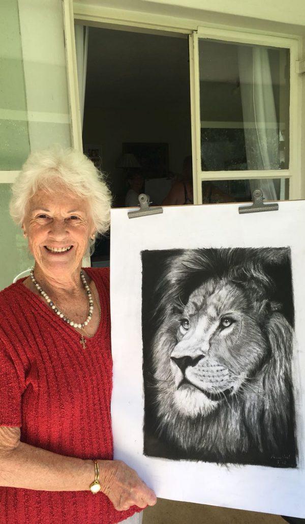 pat lion drawing